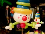 Clown Ballon Tischdeko